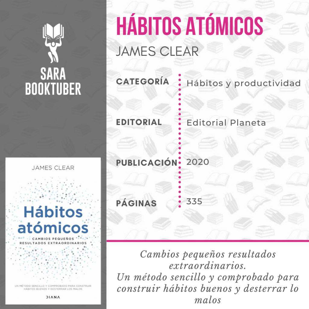 Sara Booktuber - Hábitos atómicos de James Clear