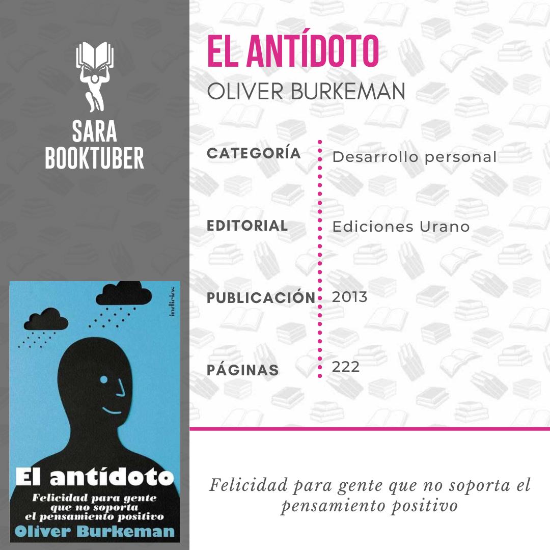 Sara Booktuber - El antidoto de Oliver Burkeman