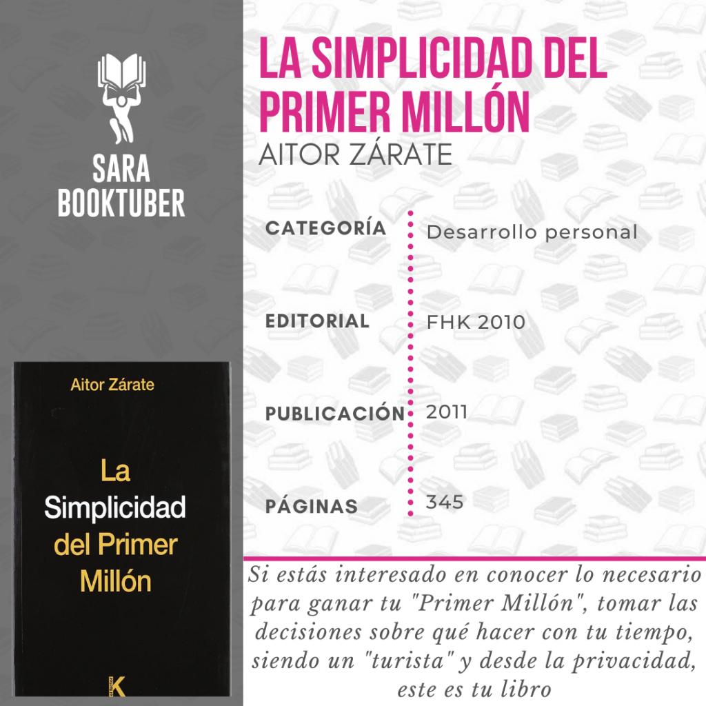 Sara Booktuber - La simplicidad del primer millón de Aitor Zárate