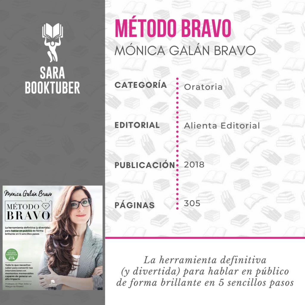 Sara Booktuber - Método Bravo de Mónica Galán Bravo
