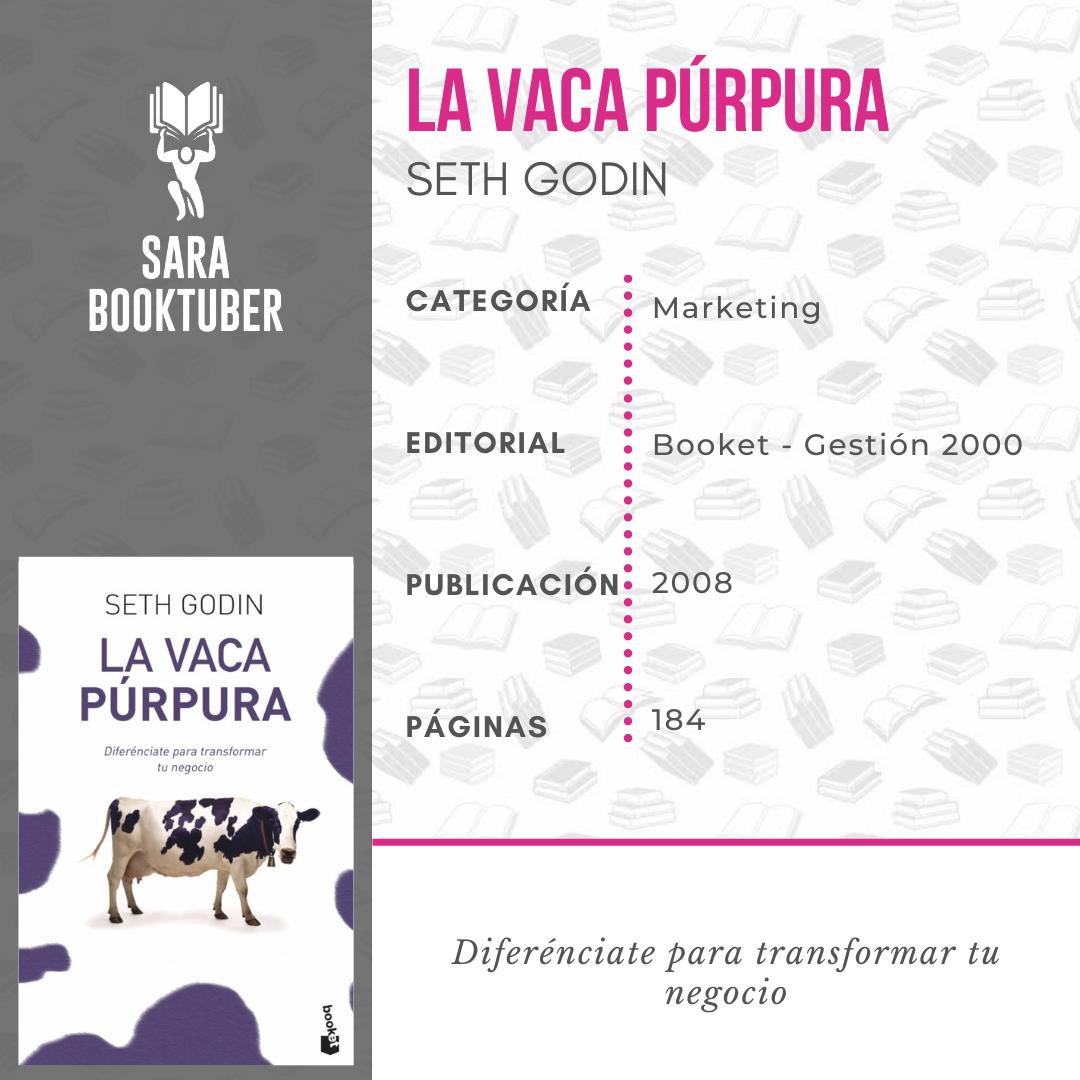 Sara Booktuber - La vaca púrpura Seth Godin