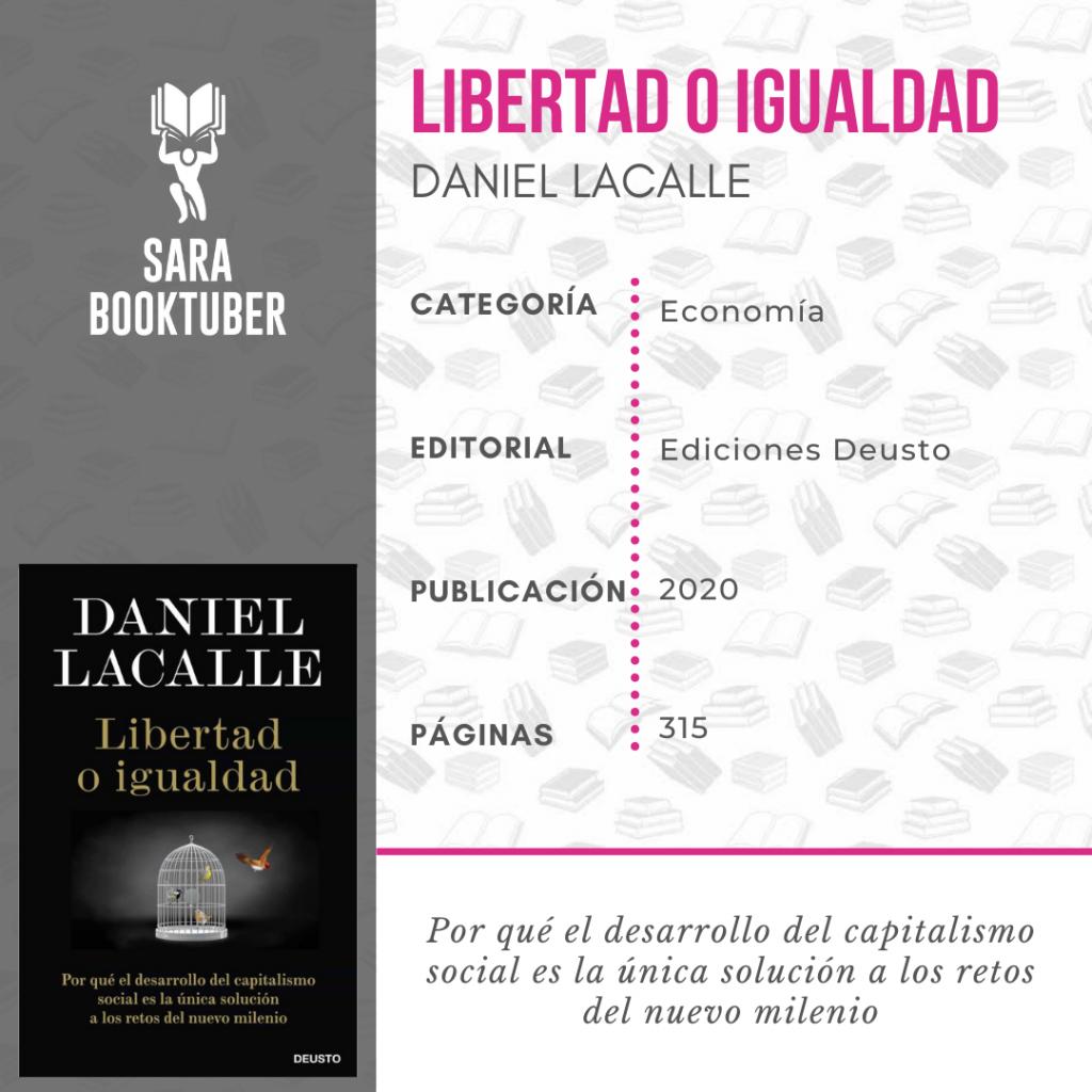 Sara Booktuber - Libertad o igualdad de Daniel Lacalle