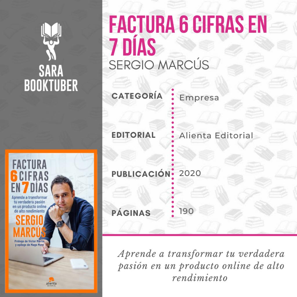 Sara Booktuber - Factura 6 cifras en 7 días de Sergio Marcús