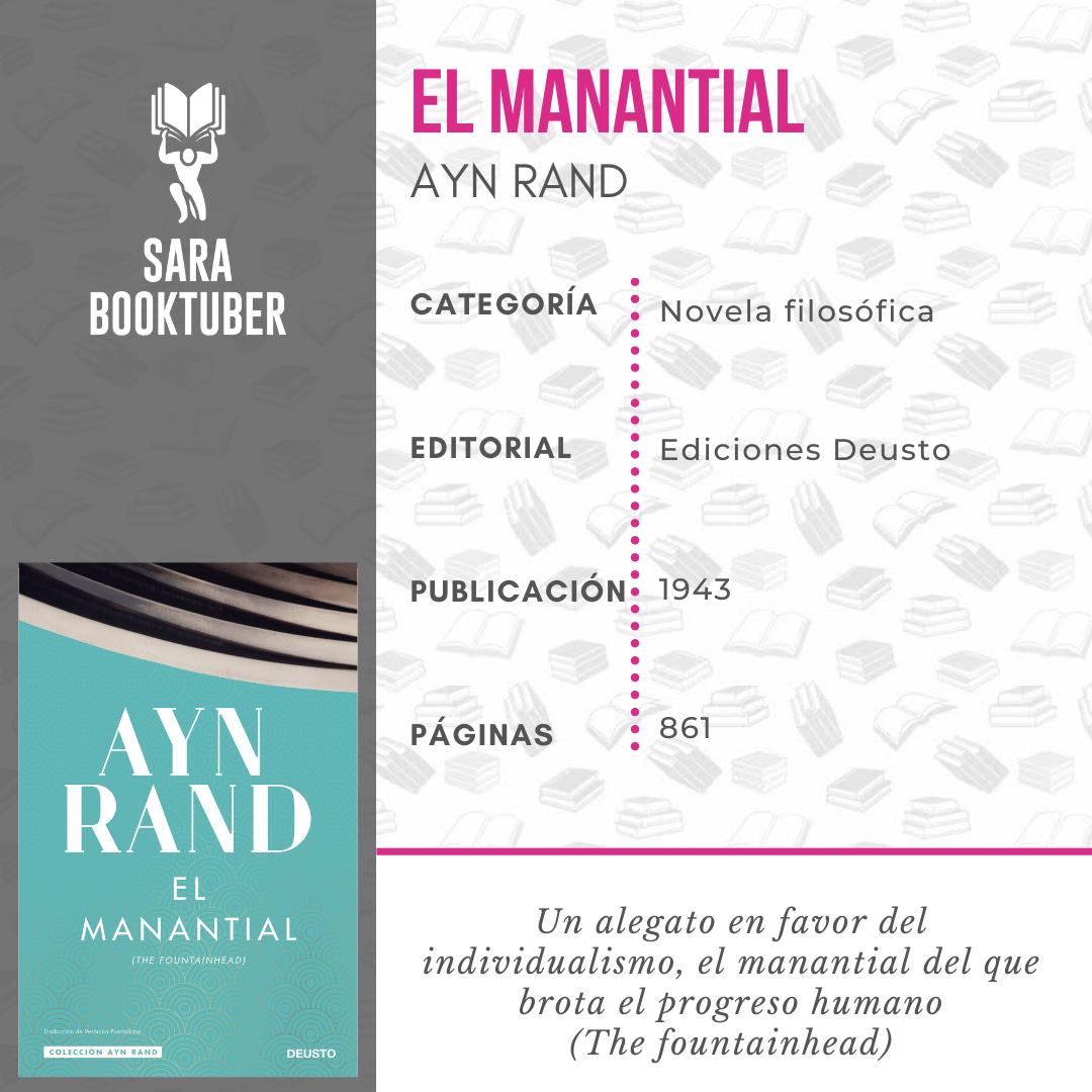 Sara Booktuber - El manantial de Ayn Rand