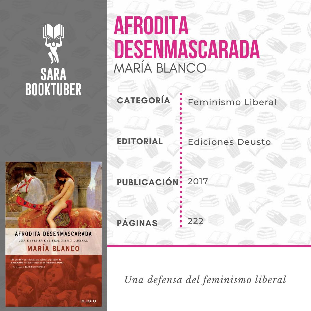 Sara Booktuber - Afrodita desenmascarada de María Blanco