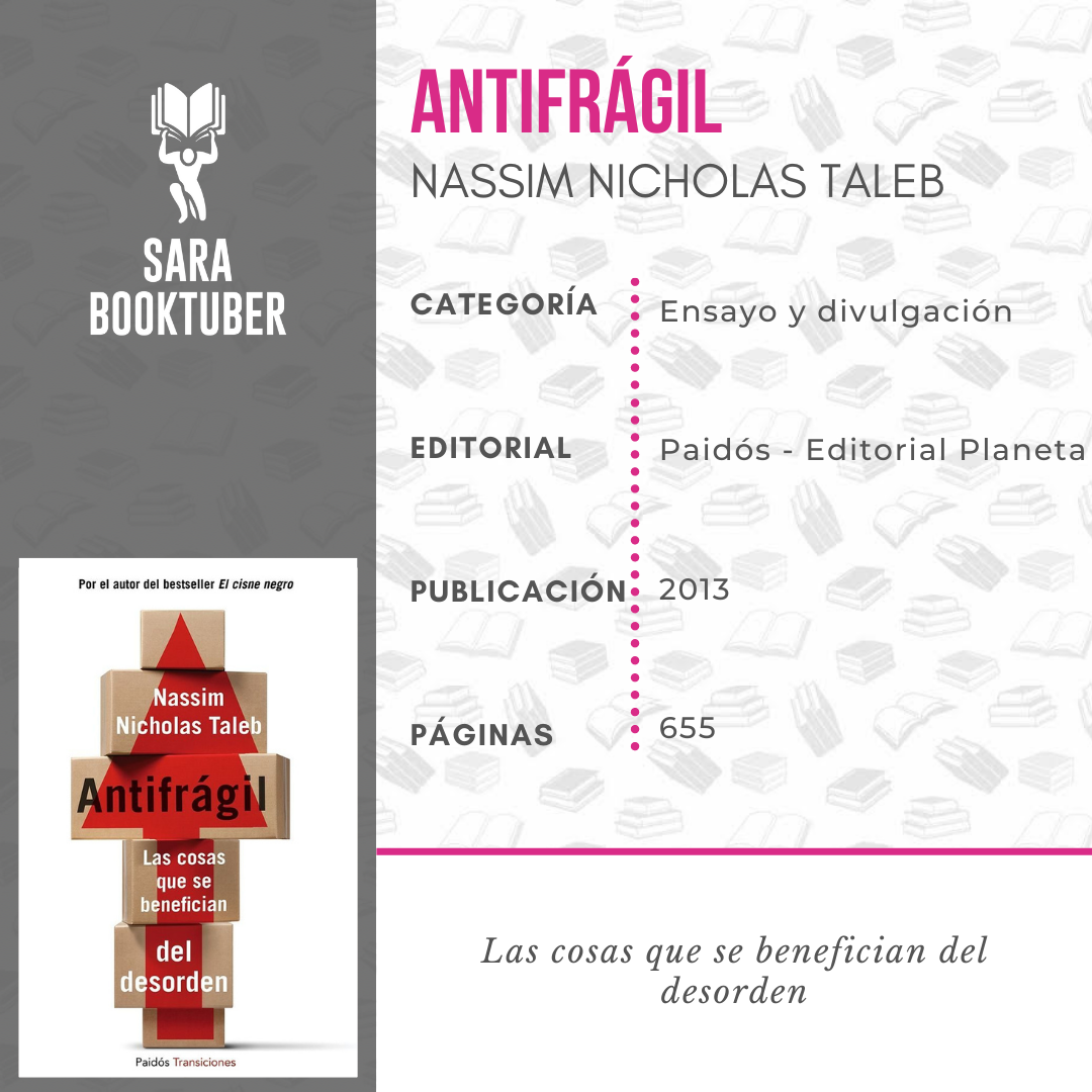 Sara Booktuber - Antifrágil de Nassim Nicholas TalebAntifrágil de Nassim Nicholas Taleb
