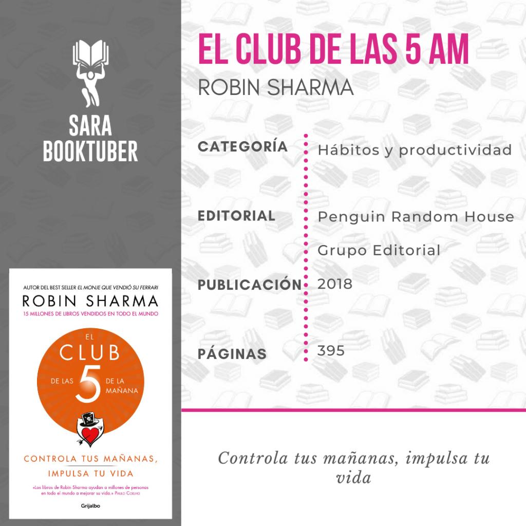 Sara Booktuber - El club de las 5 am de Robin Sharma