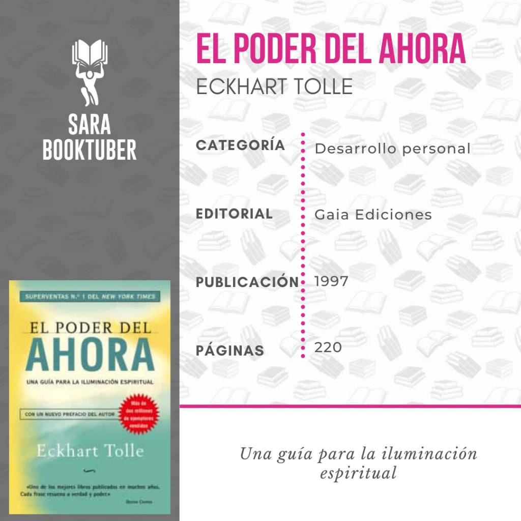 Sara Booktuber - El poder del ahora de Eckhart Tolle