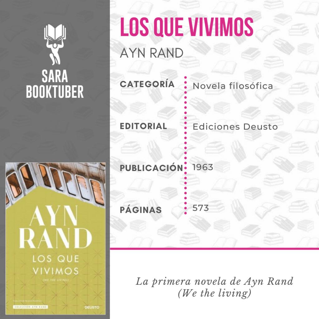 Sara Booktuber - Los que vivimos de Ayn Rand