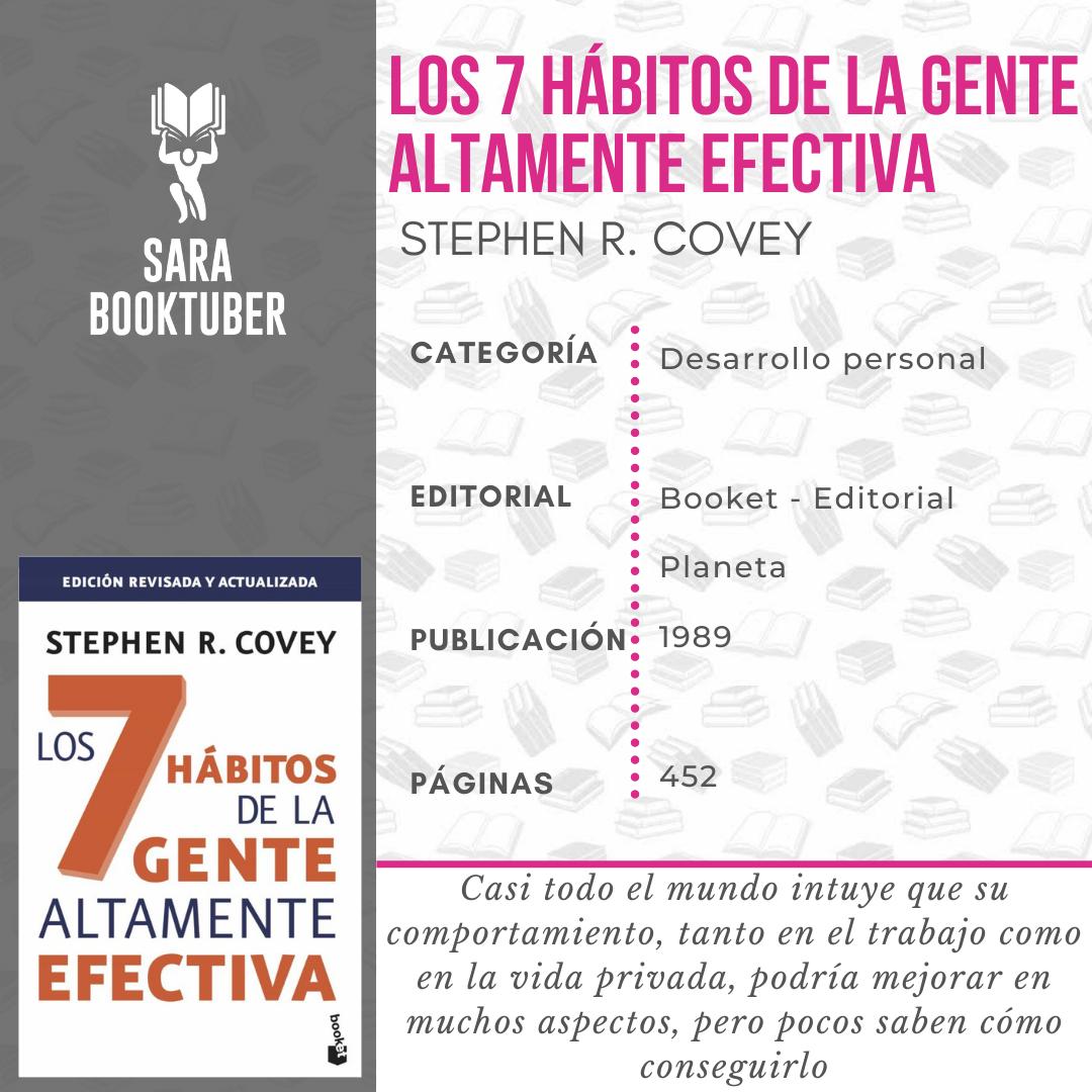 Sara Booktuber - Los 7 hábitos de la gente altamente efectiva