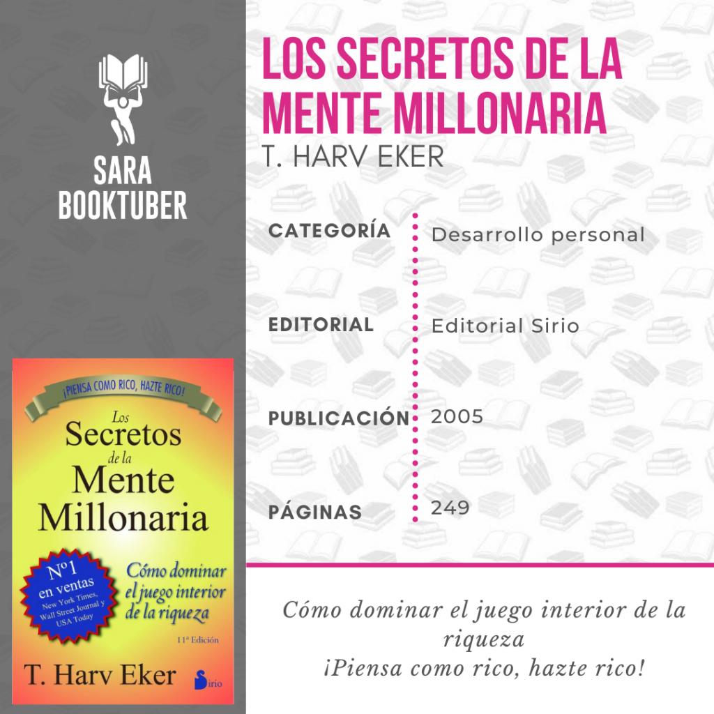 Sara Booktuber - Los secretos de la mente millonaria de T. Harv Eker