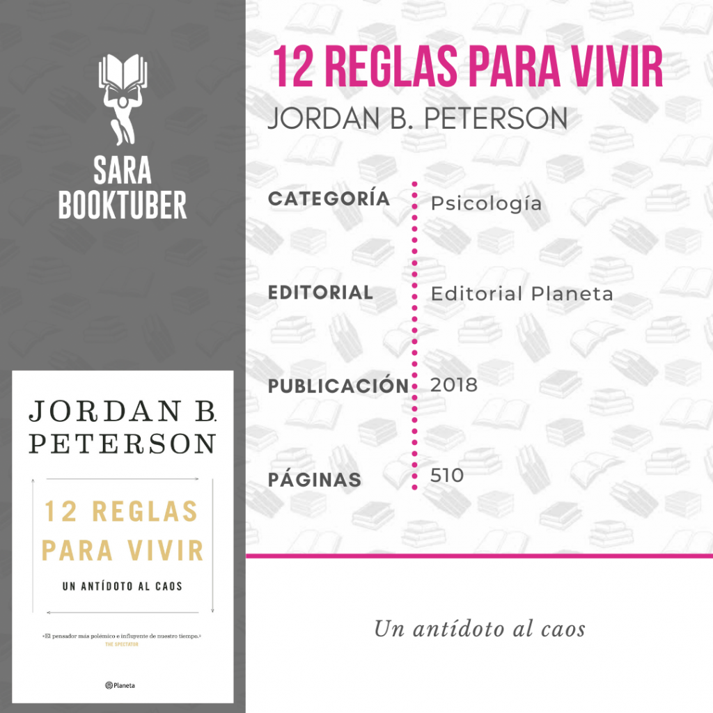 Sara Booktuber - 12 Reglas para vivir de Jordan Peterson