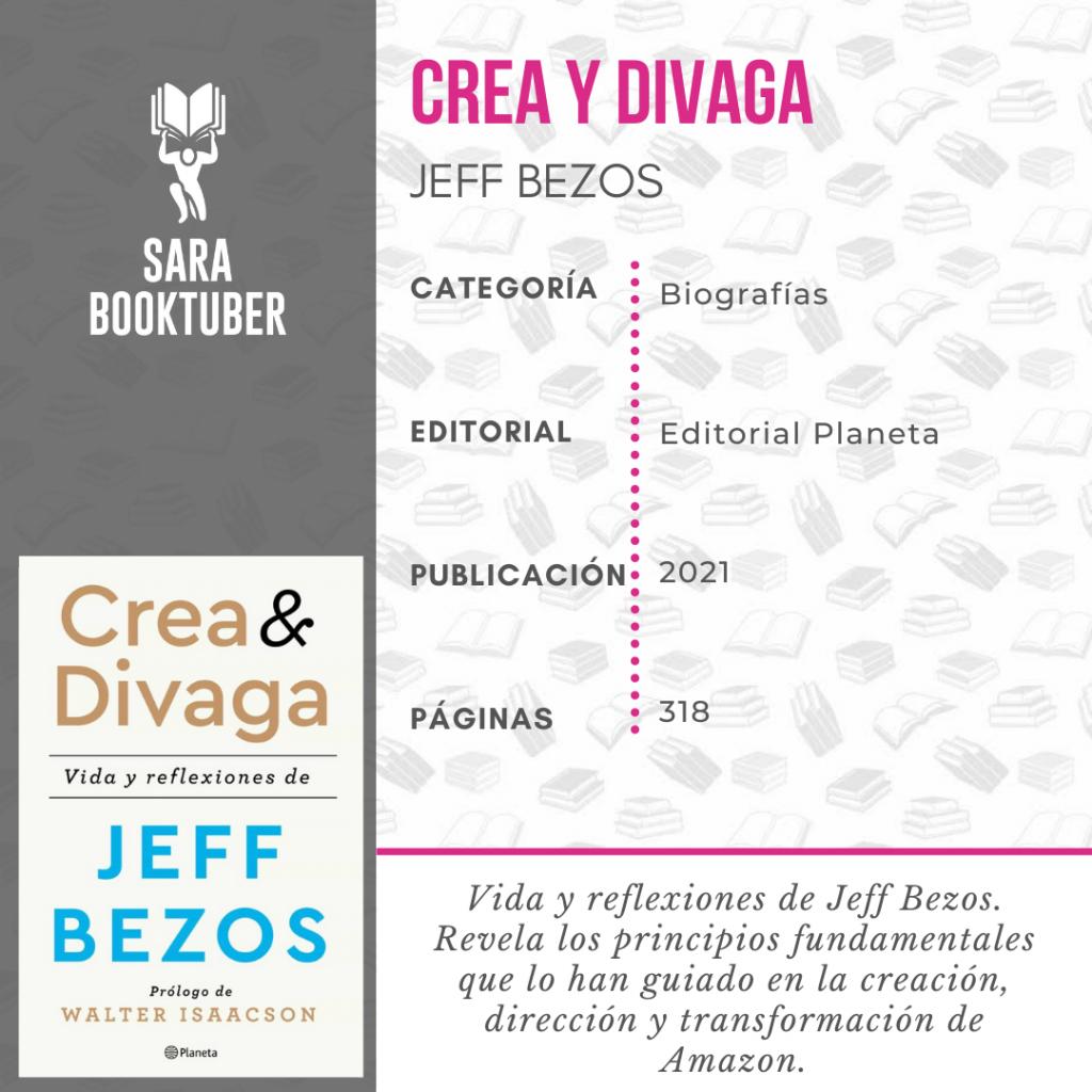 LIBRO CREA Y DIVAGA DE JEFF BEZOS